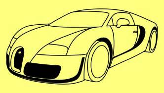 Drawing Bugatti How To Draw A Car Bugatti Veyron Fast And Furious 7 Step