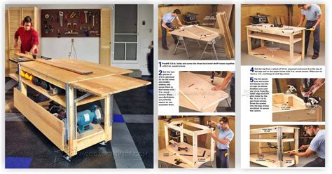 mobile workbench plans woodarchivist