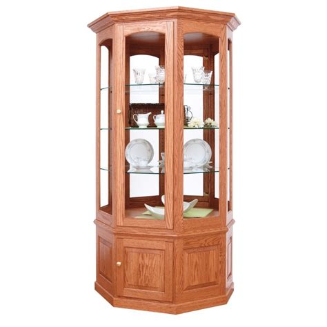 large curio cabinets large wall curio amish handcrafted curio cabinets country furniture