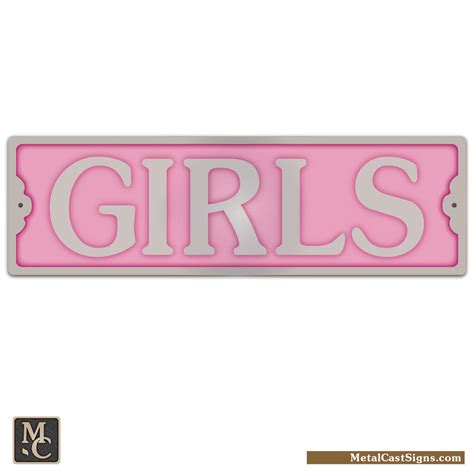 bathroom girl sign girls 8 25 quot aluminum door sign metal cast sign co