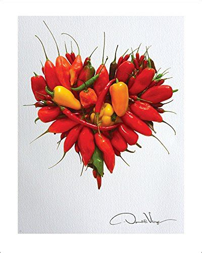 red hot chili pepper poster watercolor art red kitchen love red hot chili peppers heart poster print 11x14