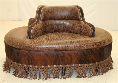 tooled leather ottoman four seater ottoman bench in tooled leather greenwich ri