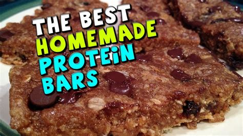top protein bar recipes the best homemade protein bars recipe 18 5g protein 4g fiber youtube