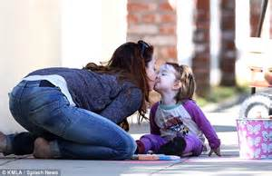 Could they get any cuter alyson hannigan kisses her adorable daughter