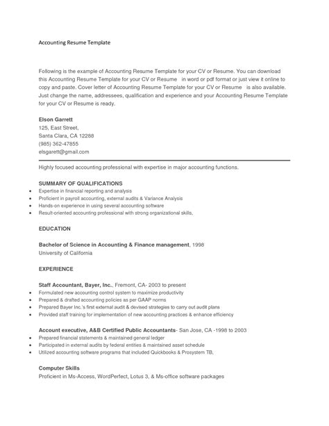 copy and paste resume template project scope template