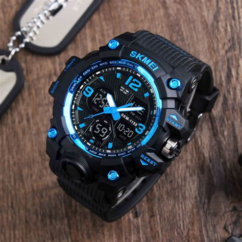 Skmei Dobel Time 1 skmei new fashion sports watches quartz analog led digital clock waterproof