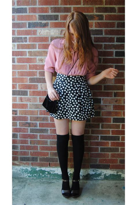 black velvet thrift purses black knee high socks black h