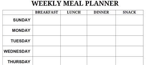 blank printable monthly meal planner printable blank pdf weekly meal planner lets get