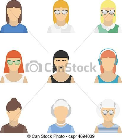 free vector doodle characters vectors of stylish character set vector