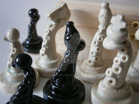 ceramic chess set ceramic tentacle chess set by christinaroth333 on deviantart