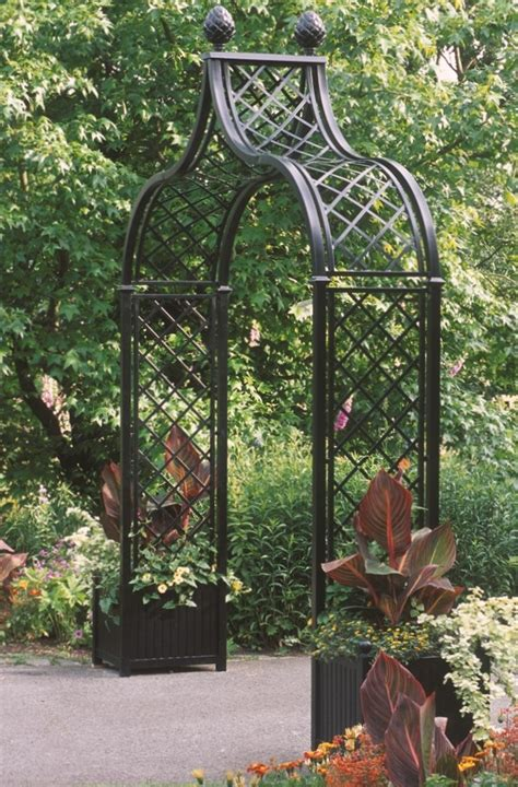 Arch With Planters by Exceptional Arches For Instant Garden Appeal
