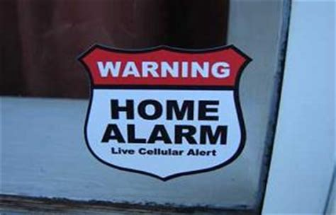 home alarm signs gallery