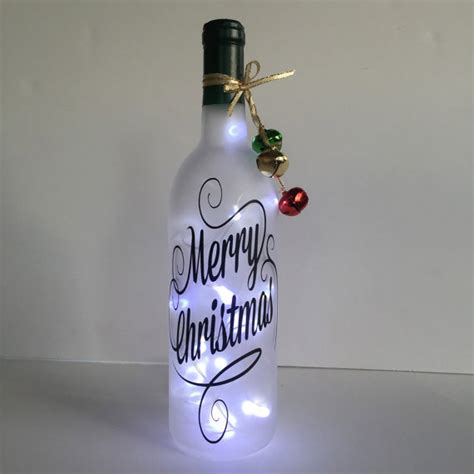 holiday themed lighted bottles how to make a bottle l