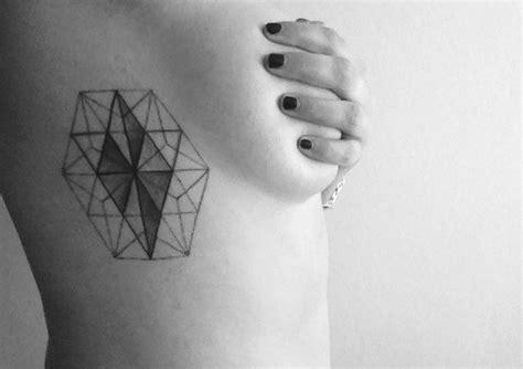 geometric hexagon tattoo geometric hexagon diamond tattoo tattoo ideas