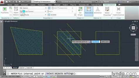 tutorial autocad hatch applying hatch patterns