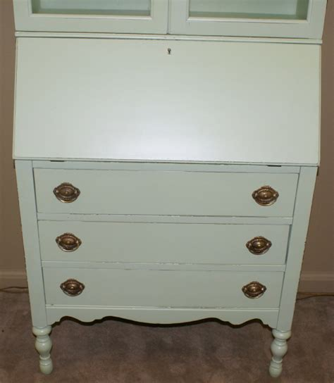 shabby chic secretary desk shabby chic painted green secretary desk