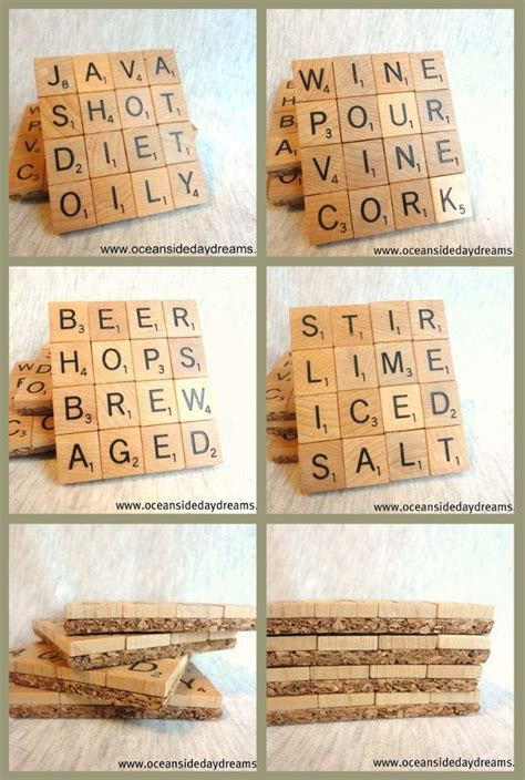 make your own scrabble tiles diy your own scrabble coasters crafts diy