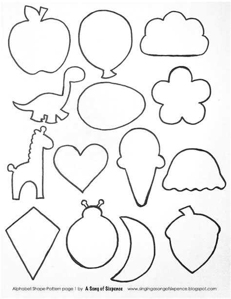 shape template printable printable cut out shapes az coloring pages