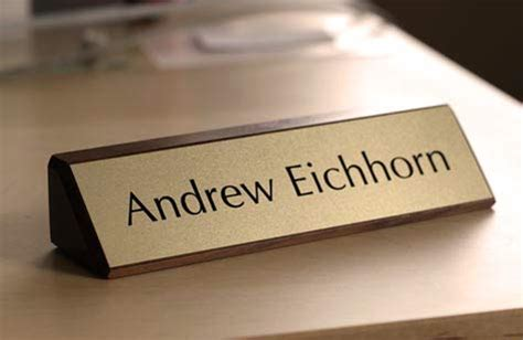 walnut desk name plates solid walnut desk signs