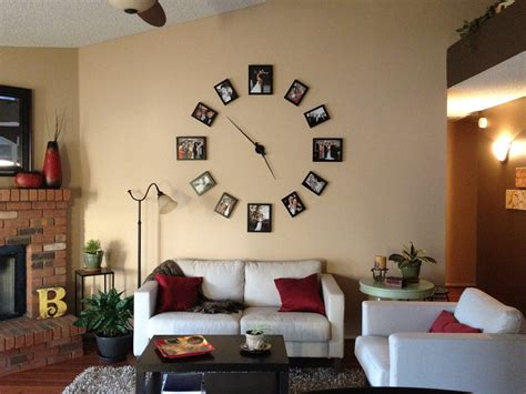 clock in living room interesting photo display ideas you to try keribrownhomes