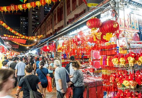new year lights singapore new year light up 2017 at chinatown singapore