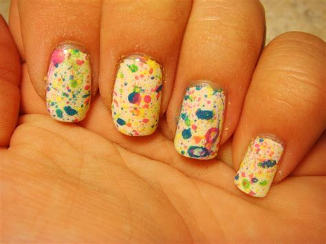 Nail Paint by All Nail And Cosmetics Splatter Paint Nails