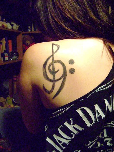 bass clef tattoos tattoos yes treble and bass clefs yes