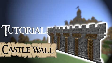 minecraft walls tutorial minecraft tutorial medieval walls version 2 youtube