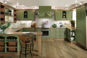 Interior Decoration For Kitchen by Green Kitchen Interior Design Stylehomes Net