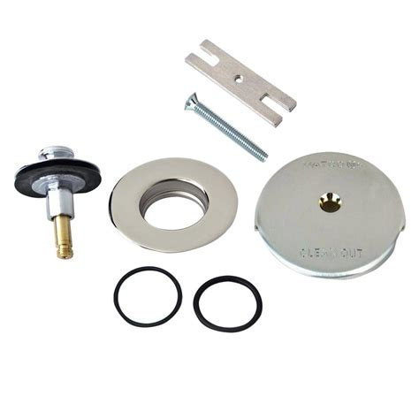 watco quicktrim lift and turn bathtub stopper and one hole
