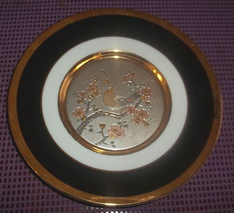 art plates the art of chokin 24kt gold rim 7 75 quot collectors plate ebay