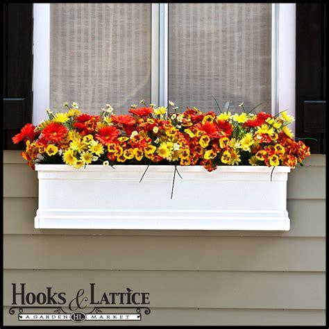 white window box planters white supreme fiberglass window boxes personify lasting
