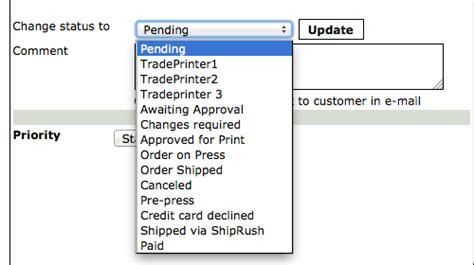 design by humans order status change order status printers website online help