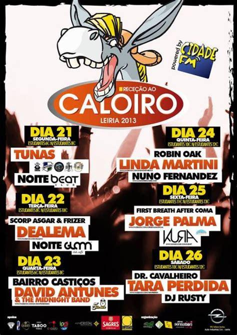 Dealema Calendario Cartaz Da Recep 231 227 O Ao Caloiro De Leiria 2013 Semana