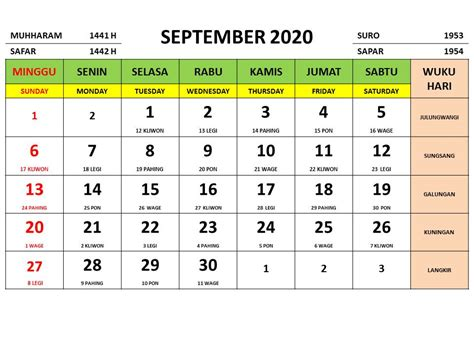 kalender  indonesia jawa lengkap  bulan  gambarnya