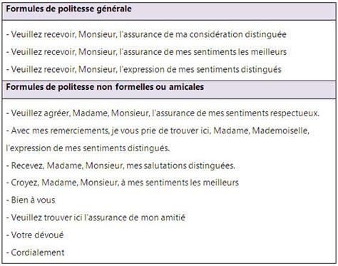 Présentation Lettre Formule De Politesse Formules De Politesse Pour Vos Lettres Et Courriers Learn Vocabulary