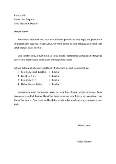 contoh surat lamaran kerja karyawan xtmxady 6