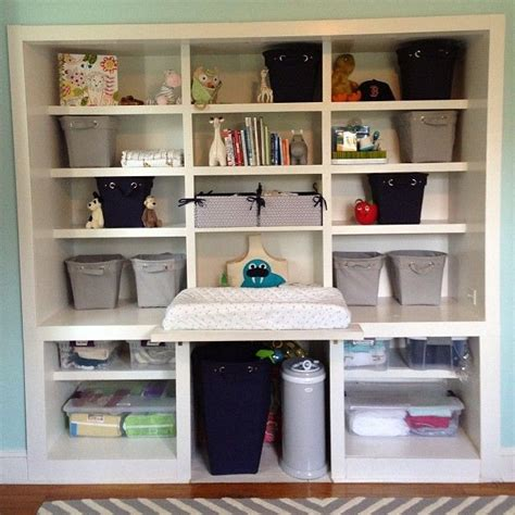Nursery Wardrobe With Shelves by Nursery Built In Shelves Aka Closet Dresser Changing