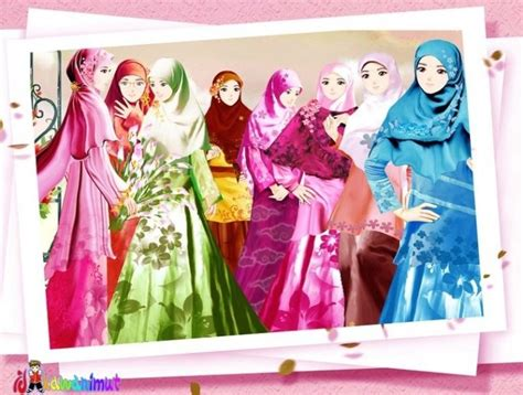 Quenna Muslimah Wanita Tren 1 widih gambar wanita muslimah berhijab animasi yang cantik