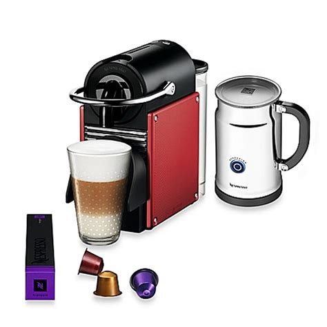 nespresso bed bath beyond nespresso 174 pixie espresso machine and aeroccino plus