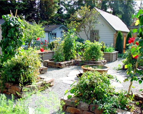 edible garden potager traditional landscape