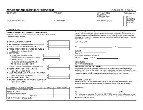 Aia Invoice Form Invoice Template Ideas Aia Contract Template