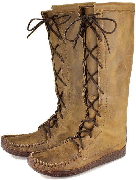 mens knee high moccasin boots itasca leathergoods s nokasippi knee high boot