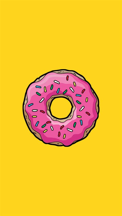 wallpaper iphone 5 simpsons the simpsons doughnut iphone 5 wallpaper 640x1136
