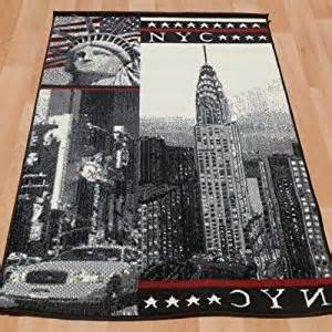 new york themed rug 100x150cm taxi statue of liberty