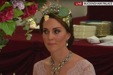 kate middleton stuns in cambridge love knot tiara at diplomatic unnoticed the duchess of cambridge has been paying secret