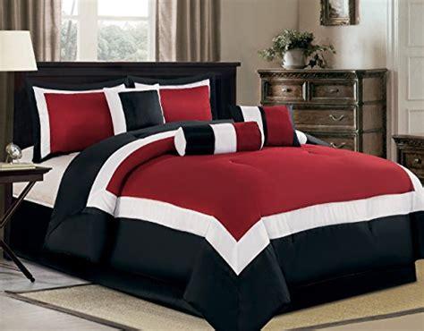 burgundy comforter sets king size 7 piece oversize burgundy black white color block