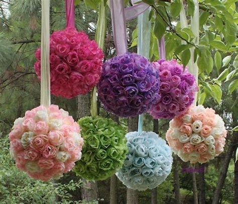flower decoration ideas wedding party supplies colorful flower kissing ball for