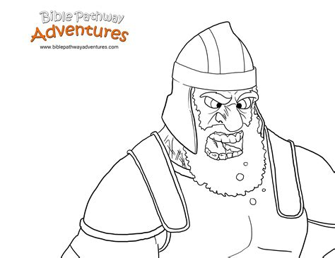 Coloring Page Goliath by Goliath Bible Pathway Adventures