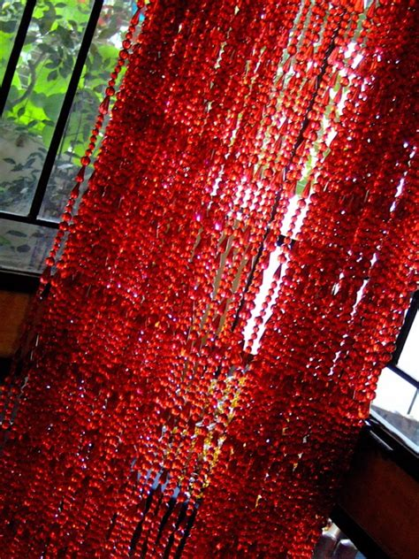 red beaded curtains red acrylic crystal beaded curtain memories of a